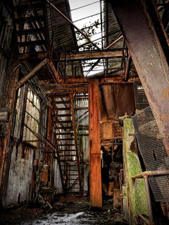 Interior of a Derelict Industrial Building