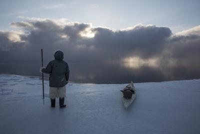 An Inuit Hunter on the Sea Ice