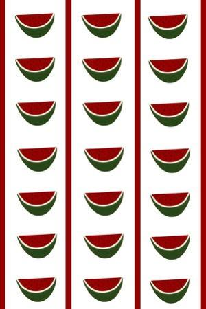 Design -CR- Watermelons in White by Cristina Rodriguez