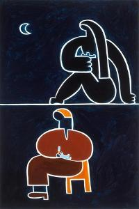 The meals I, 2001,(oil on linen) by Cristina Rodriguez