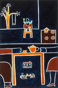 The meals II, 2001,(oil on linen) by Cristina Rodriguez