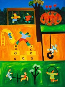 The playground, 2001,(oil on linen) by Cristina Rodriguez