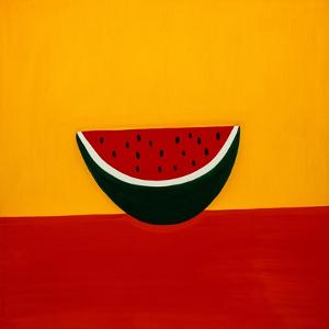 Watermelon,1998,(oil on linen) by Cristina Rodriguez