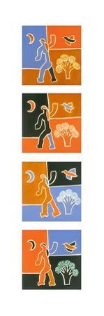 Woman, Moon, Tree, Bird, 2010 by Cristina Rodriguez