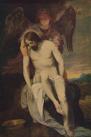 'Cristo Llorado Por Un Angel', (Dead Christ she Supported by an Angel)', 1646-1652, (c1934)-Alonso Cano-Giclee Print