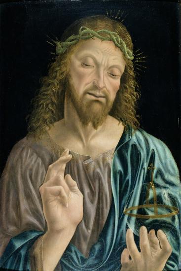 Cristo Salvator Mundi, C.1490-94- Master of the Pala Sforzesca-Giclee Print