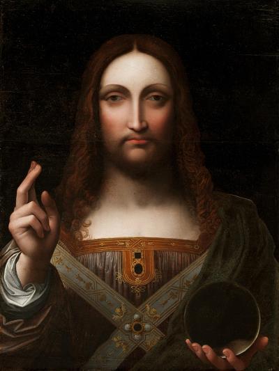 Cristo Salvator Mundi (Oil on Wood Panel)-Giovanni Pedrini Giampietrino-Giclee Print