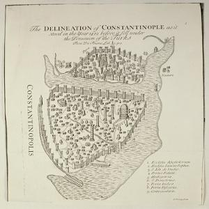 A Map of Constantinople in 1422 by Cristoforo Buondelmonti