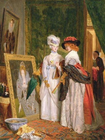 Critics on Costume, Fashions Change-John Callcott Horsley-Giclee Print