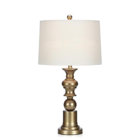 Crius Silver Finish Table Lamp--Home Accessories