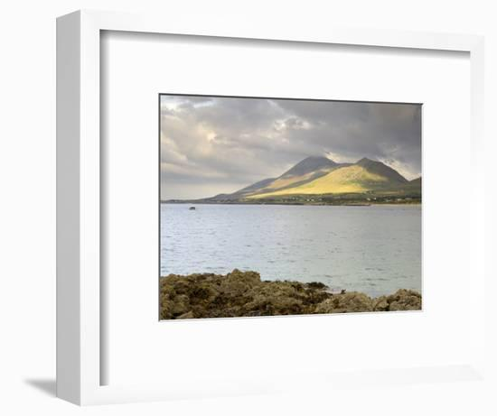 Croagh Patrick Mountain and Clew Bay, from Old Head, County Mayo, Connacht, Republic of Ireland-Gary Cook-Framed Photographic Print