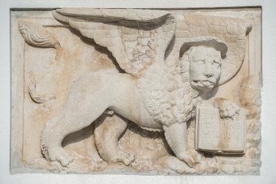 Croatia, Dalmatia, Hvar Town, St. Mark's Lion-Rob Tilley-Photographic Print