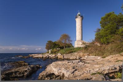 Croatia, Istria, Adriatic Coast, Umag, Village Savudrija, Lighthouse at Cape Savudrija-Udo Siebig-Photographic Print