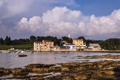 Croatia, Istria, Adriatic Coast, Umag, Village Savudrija, View of the Town in the Evening Light-Udo Siebig-Photographic Print