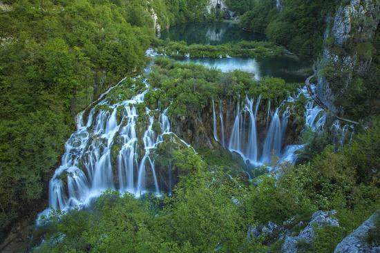 Croatia, Plitvice Lakes National Park. Waterfall landscape.-Jaynes Gallery-Premium Photographic Print