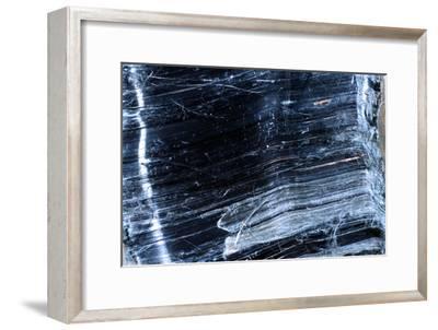 Crocidolite Asbestos Mineral-Dirk Wiersma-Framed Photographic Print