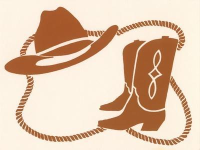 Rodeo, Cowboy Boots, Hat and Rope
