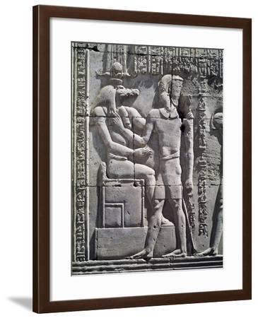 Crocodile-God Sobek and King Ptolemy VI Philometor--Framed Giclee Print