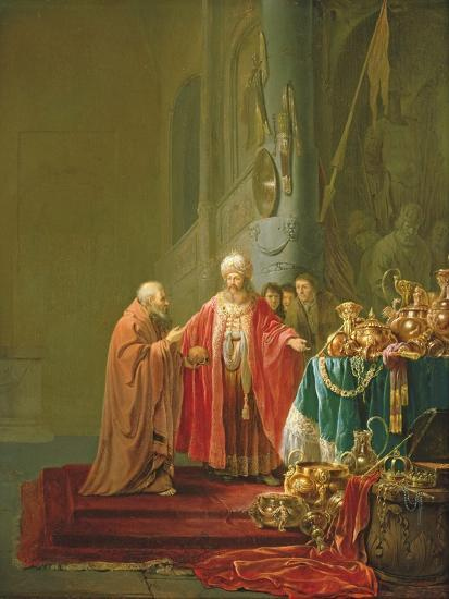 Croesus Showing His Riches to Solon-Willem de Poorter-Giclee Print