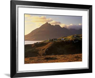 Croftship of Elgol, Loch Scavaig and Cuillin Hills Behind, Isle of Skye, Inner Hebrides, Scotland-Patrick Dieudonne-Framed Photographic Print