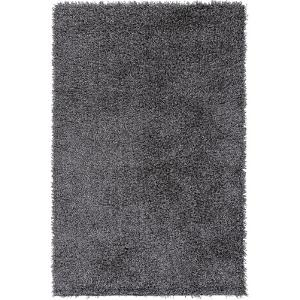 "Croix Area Rug - Light Gray/Black 5' x 7'6"""
