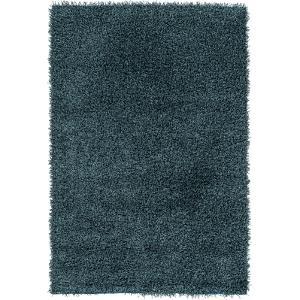 "Croix Area Rug - Teal/Black 5' x 7'6"""