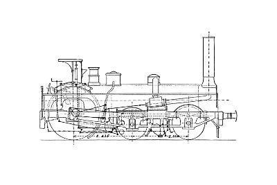Crompton's Steam Locomotive-Mark Sykes-Giclee Print