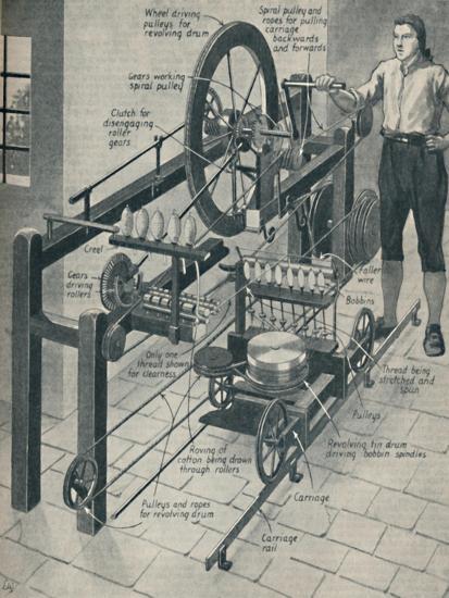 'Crompton's Wonderful Spinning Mule', c1934-Unknown-Giclee Print