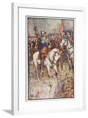 Cromwell and His Ironsides, Illustration from 'A History of England' by C.R.L. Fletcher and…-Henry Justice Ford-Framed Giclee Print