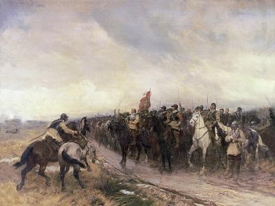 Cromwell at Dunbar, 1650-Andrew Carrick Gow-Giclee Print