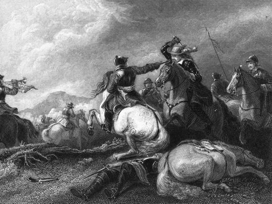 Cromwell at the Battle of Marston Moor, 2 July 1644-William Greatbach-Giclee Print