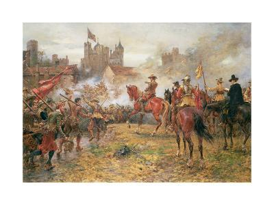 Cromwell at the Storming of Basing House, 1900-Ernest Crofts-Giclee Print