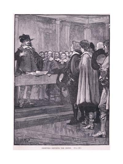Cromwell Refusing the Crown Ad 1657-Henry Marriott Paget-Giclee Print