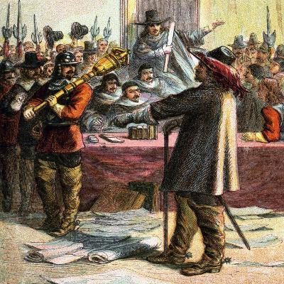 Cromwell Turns Out Parliament, 17th Century--Giclee Print
