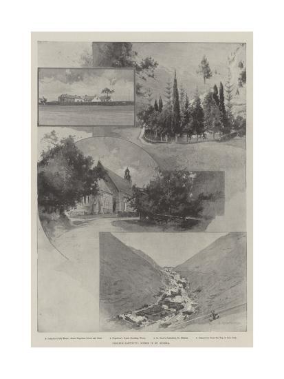 Cronje's Captivity, Scenes in St Helena-Charles Auguste Loye-Giclee Print