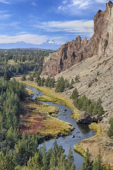 Crooked River, Smith Rock State Park, Oregon, USA-Jamie & Judy Wild-Photographic Print