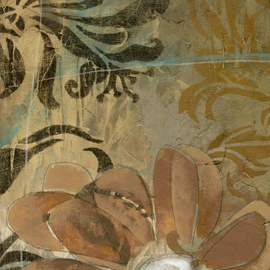 Cropped Floral Abstraction II-Jennifer Goldberger-Art Print