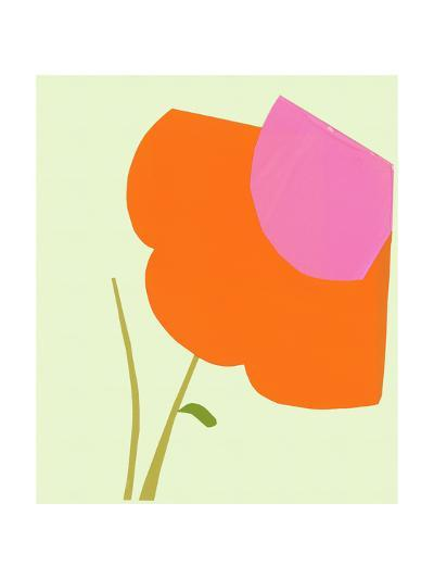 Cropped Large Graphic Orange Flower--Art Print