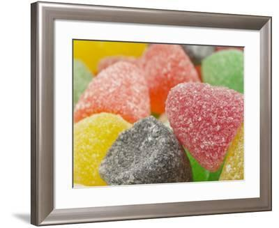 Cropped Shot of a Selection of Brightly Colored Sugar-Coated Gumdrop Candies--Framed Photographic Print