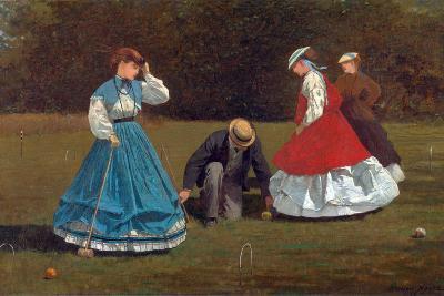 Croquet Scene-Winslow Homer-Giclee Print