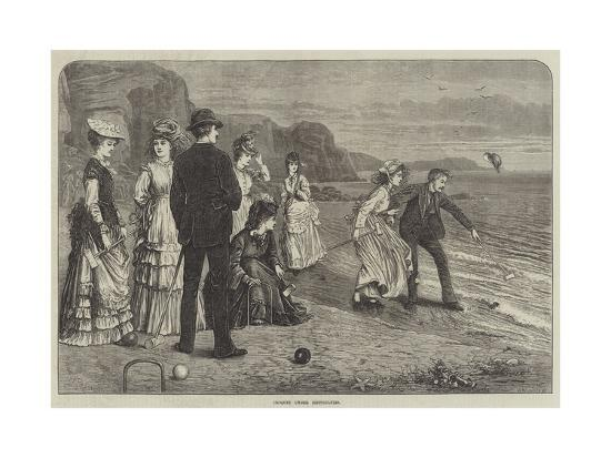 Croquet under Difficulties--Giclee Print