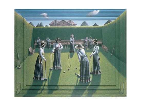 Croquet-P.J. Crook-Giclee Print