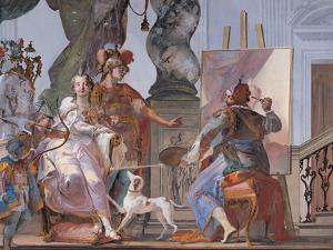 Alexander Watches Apelles Painting Campaspe by Crosato Giambattista