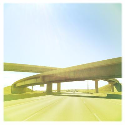Cross Bridge over Road-A L Christensen-Photographic Print