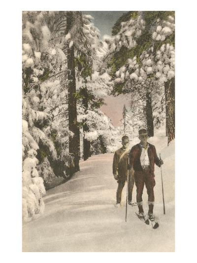 Cross-Country Skiers--Art Print