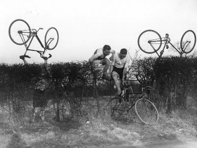 Cross County Cycling--Photographic Print