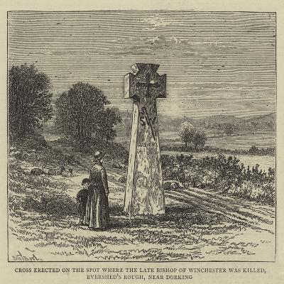 Cross Erected on the Spot Where the Late Bishop of Winchester Was Killed-William Henry James Boot-Giclee Print