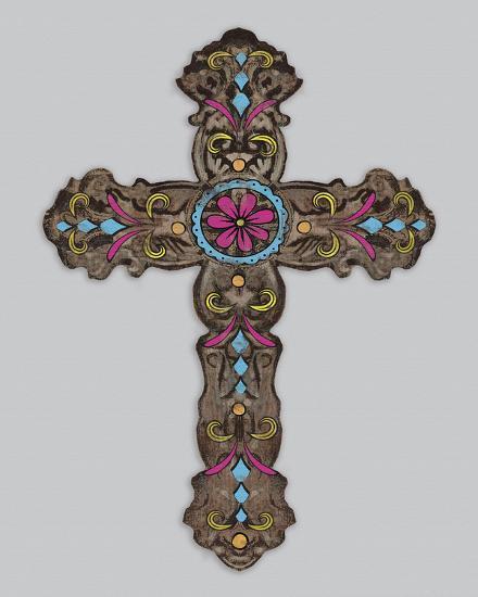 Cross III-Maria Mendez-Art Print