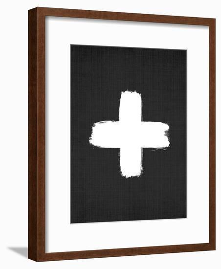 Cross On Black-LILA X LOLA-Framed Art Print