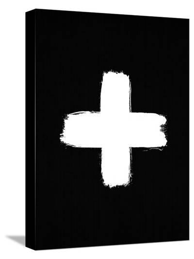 Cross On Black-LILA X LOLA-Stretched Canvas Print
